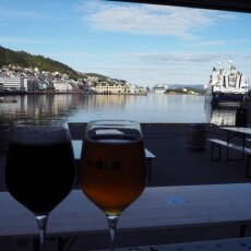 Local beer with a view