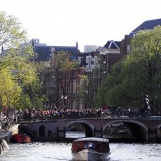 People in Amsterdam enjoying the sun