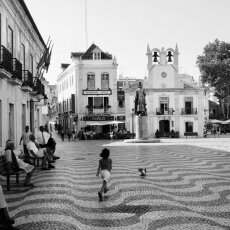 Chasing the pigeon - Cascais, Portugal