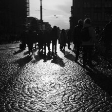 Shadows - Amsterdam, Dam Square