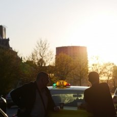 Sunset and taxi drivers