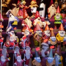 Cologne Christmas Market - wooden gnomes