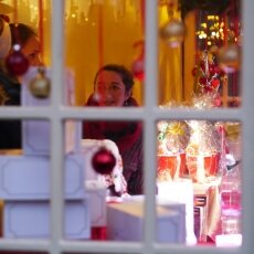 Cologne Christmas Market - through the window