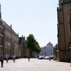Heading towards the church square