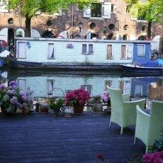 Houseboat garden