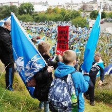 Edinburgh independence march 10