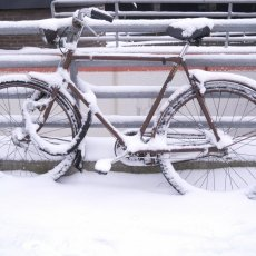 Snowed bike