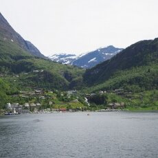 View over Geiranger village