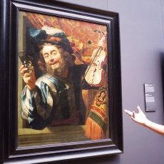 Caspar with one of the favourite paintings