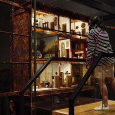 The museum has a few doll houses in the collection