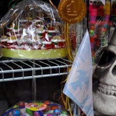 Skull in the candy shop