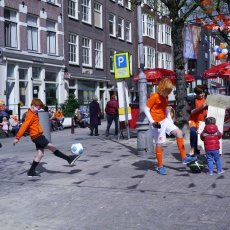 Children playing at the Noordermarkt