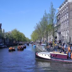 Boats riding on the canals