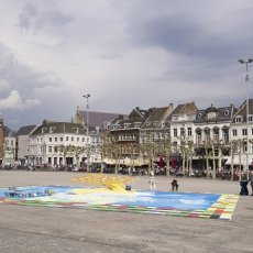 3D street art - work in progress in the main square