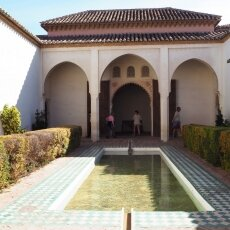 One of the interior patios of Alcazaba