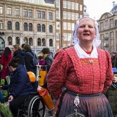 Dutch lady in red