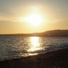 Beach at sunset, Nice 02