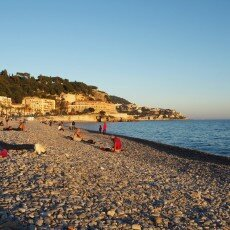 Beach at sunset, Nice 03