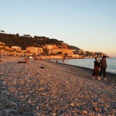 Beach at sunset, Nice 04