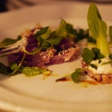 Tuna with wasabi mayonaise