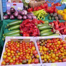 Fresh vegetables at Pure Markt