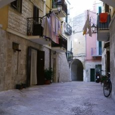 Narrow streets in Bari