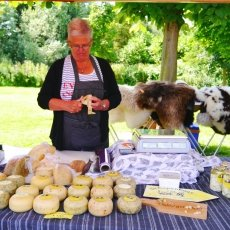 The lady who sells sheep cheese