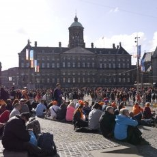 Dam Square after the celebration