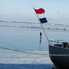 Skating on natural ice in Hoorn 12