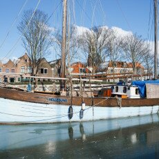 Skating on natural ice in Hoorn 17