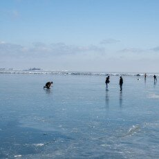 Skating on natural ice in Hoorn 23