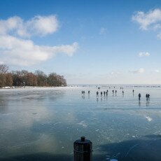 Skating on natural ice in Hoorn 24