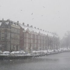Snowing in Amsterdam 02