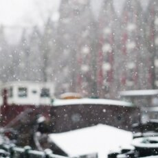Snowing in Amsterdam 04