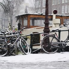 Snowing in Amsterdam 05