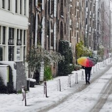 Snowing in Amsterdam 06