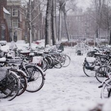 Snowing in Amsterdam 07