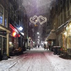 Snowy night in Amsterdam 05