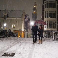 Snowy night in Amsterdam 06