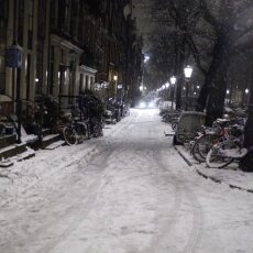 Snowy night in Amsterdam 07