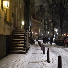Snowy night in Amsterdam 11