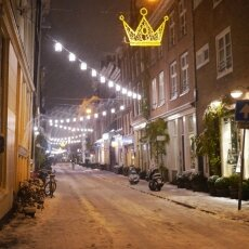 Snowy night in Amsterdam 17