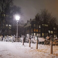 Snowy night in Amsterdam 19