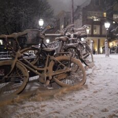 Snowy night in Amsterdam 20
