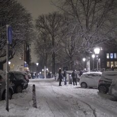 Snowy night in Amsterdam 22