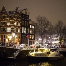 Snowy night in Amsterdam 23