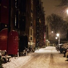 Snowy night in Amsterdam 26