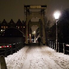 Snowy night in Amsterdam 27