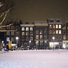 Snowy night in Amsterdam 28