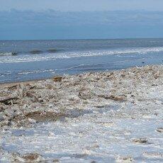 Snow on the beach 03